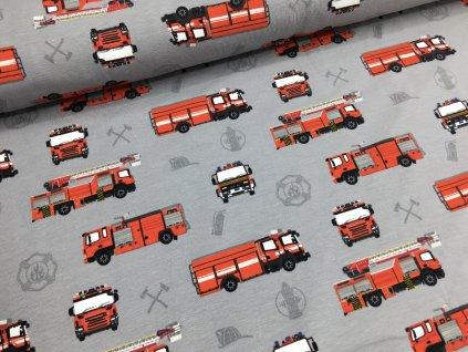 Úplet - hasiči - šedá