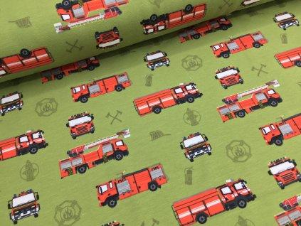 Úplet - hasiči - zelená