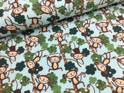 Úplet - opičky - zelenkavá