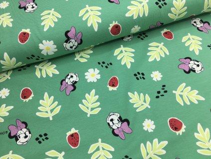 Úplet - Mickey Mouse - zelená se třpytkami