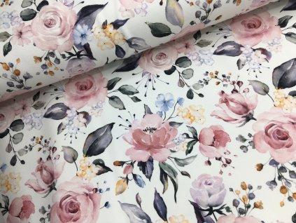 Teplákovina - rozkvetlé růže