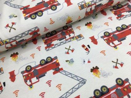 Úplet - hasiči - krémová