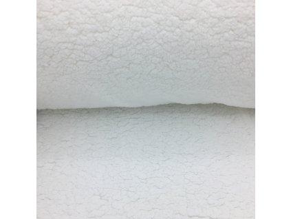 Beránek - 100% polyester - bílá (250 g/m2) - 96cm (2.jakost)