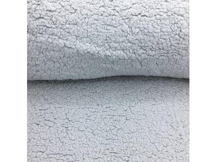 Beránek - 100% polyester - světle šedá (250 g/m2) - doprodej 33cm