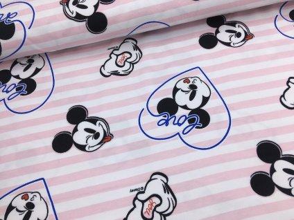 Úplet - Mickey Mouse - proužky - doprodej 52cm