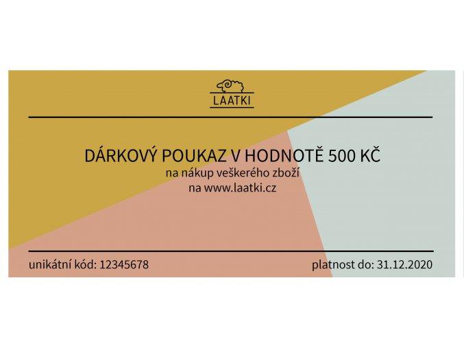 Darkovy poukaz VZOR 500 Kc 2019