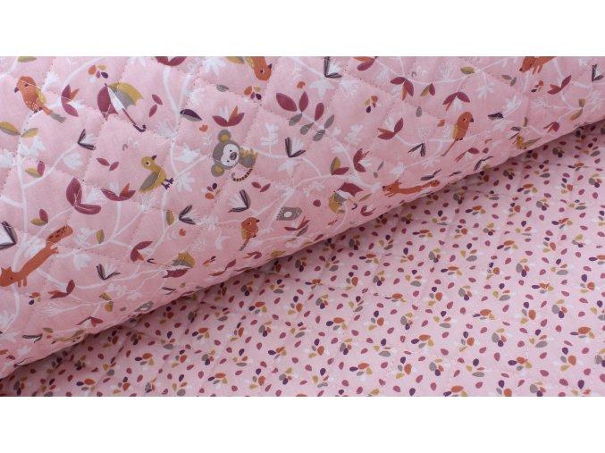 Prošev - opičky růžové - bavlněný
