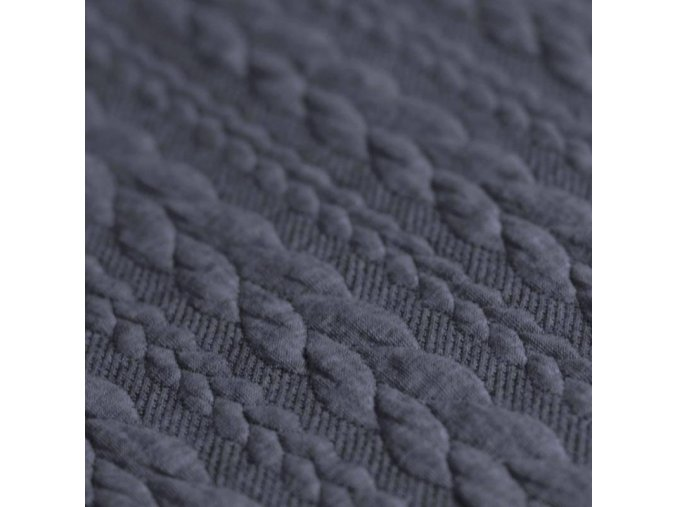 Cable Knit Jacquard Fabric jeans melange 800x800