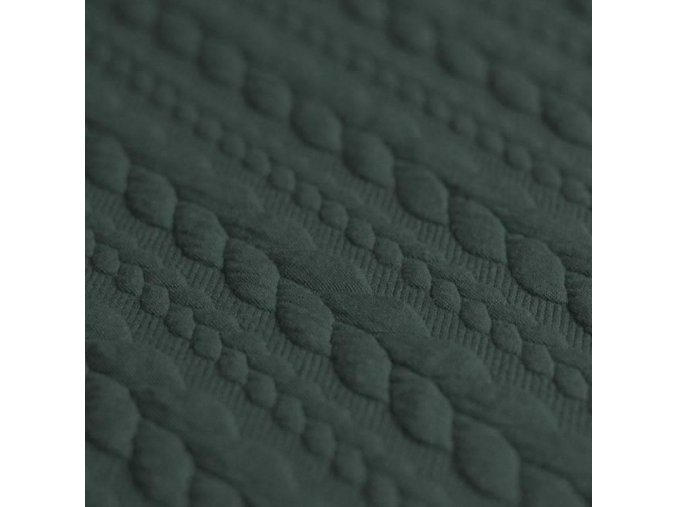 Cable Knit Jacquard Fabric army green 800x800