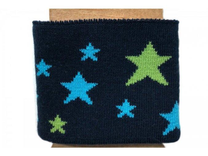 Náplet - kusový - hvězdy na tmavě modré
