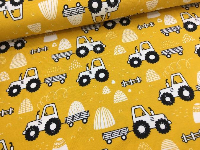 Úplet - traktor s vlečkou - žlutá