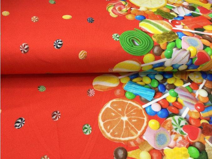 Úplet - bordura sladkosti - červená