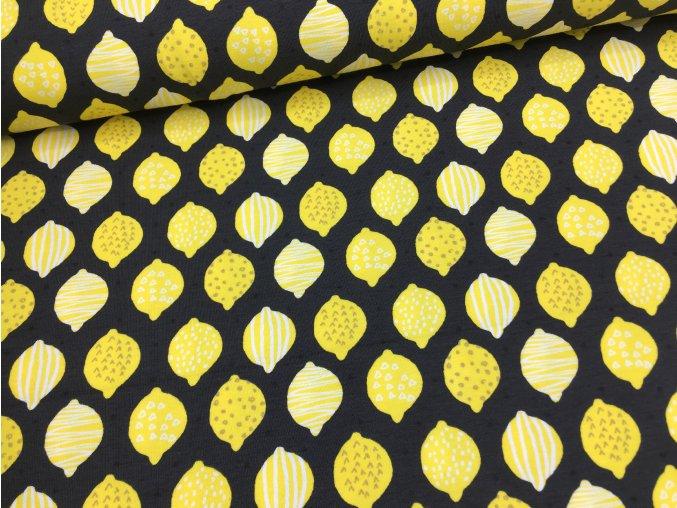 Úplet - citrony na černé