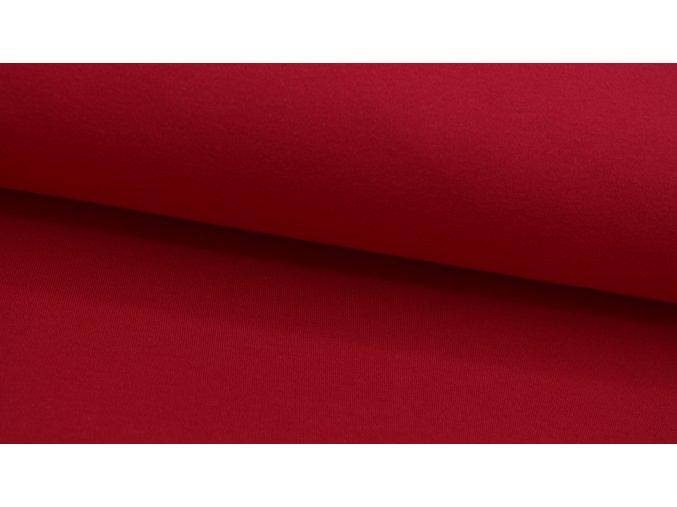 Bavlněný úplet (100% bavlna) - jednobarevný - červená