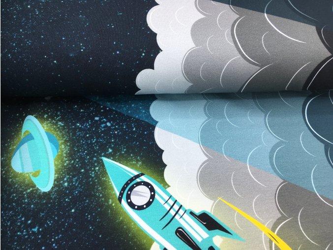 Teplákovina - vesmír - petrolejová