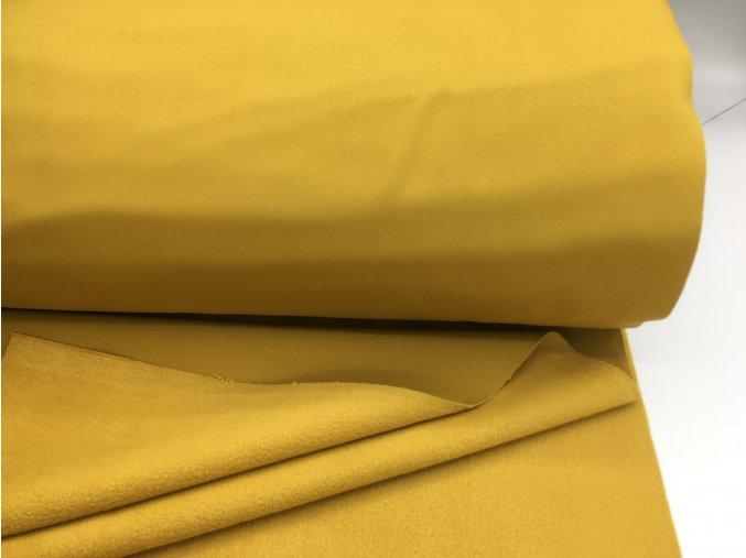 Zimní softshell - jednobarevný - okrová (rubová strana okrová)