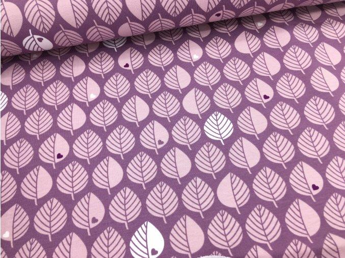 Teplákovina - lístečky na lila