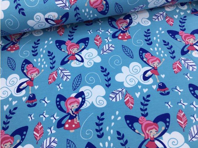 Úplet - víly - modro/růžové