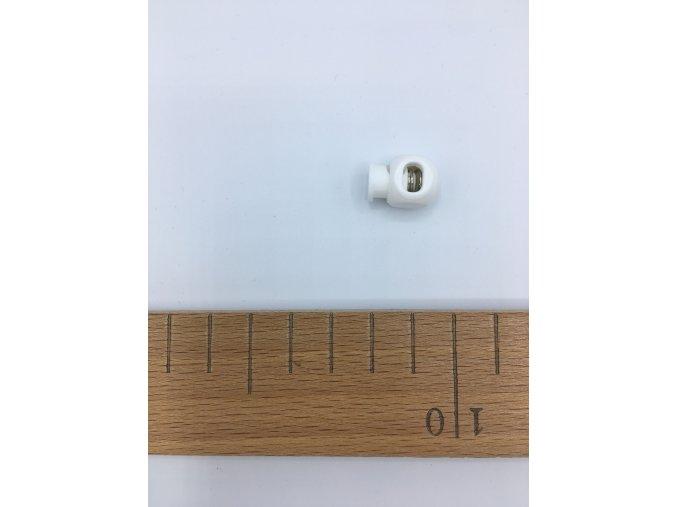 Plastová brzdička - délka 20mm - bílá