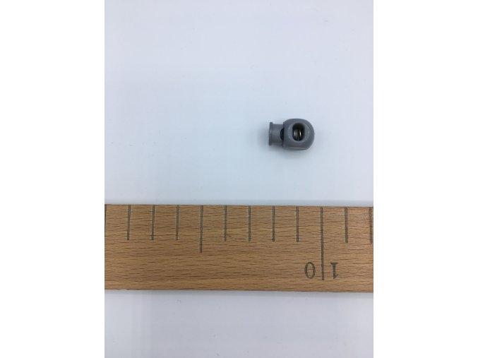 Plastová brzdička - délka 20mm - šedá