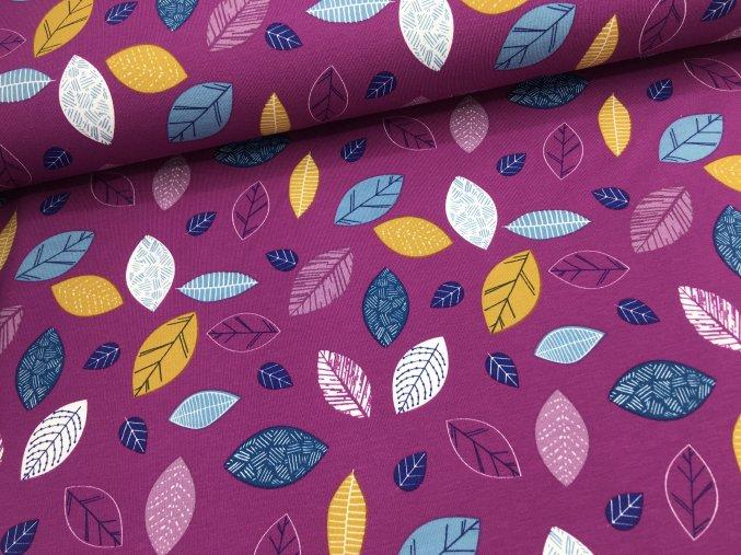 Úplet - podzimní listí - fuchsie
