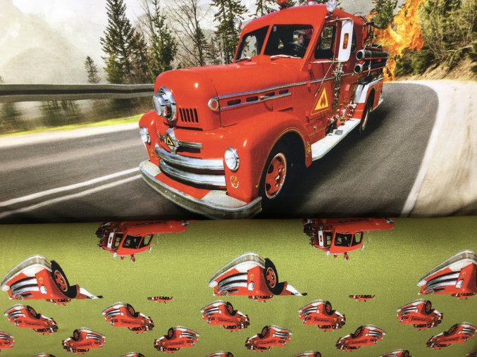 Úplet - panel -  hasičské auto