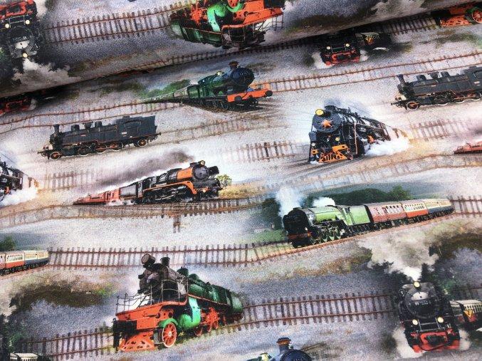 Úplet - vlaky - digitální potisk