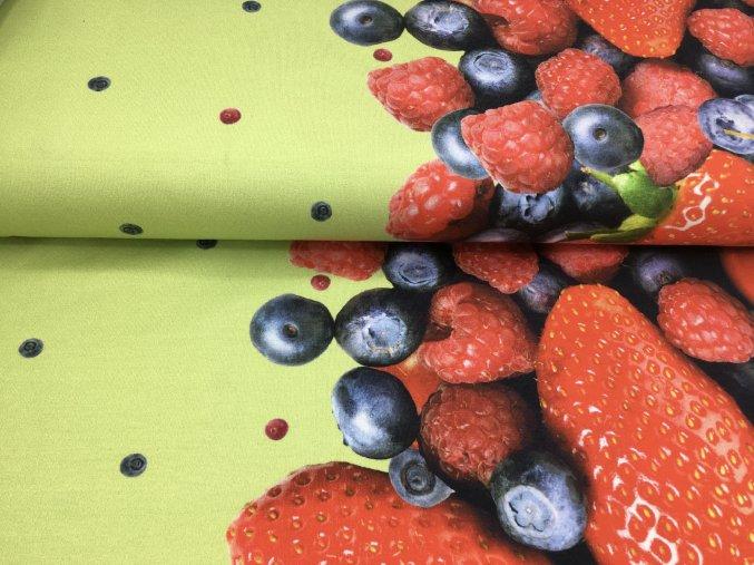 Úplet - bordura ovoce - zelená
