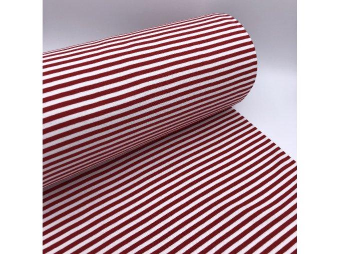 Náplet - proužek 5mm - červená/bílá