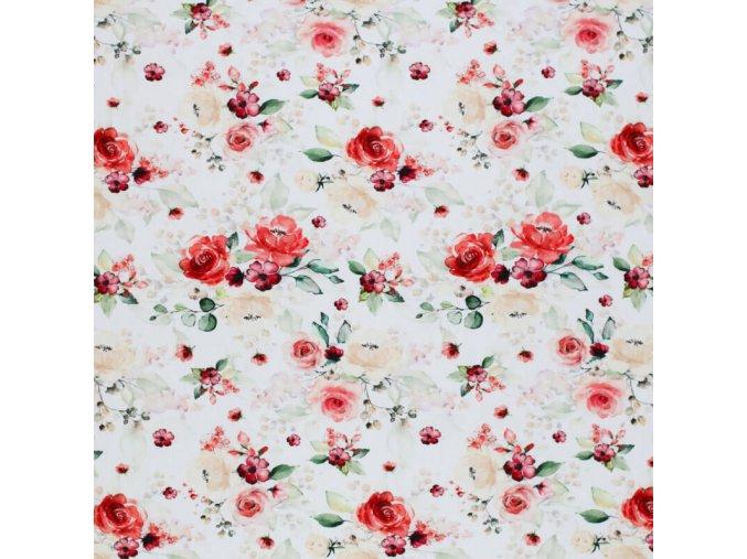 Jersey Fabric Rose Flower 800x800