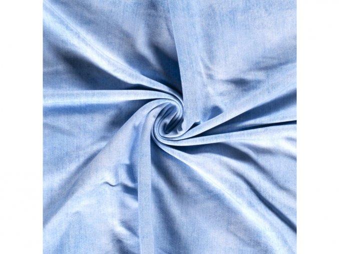 Teplákovina - džínsově světle modrá