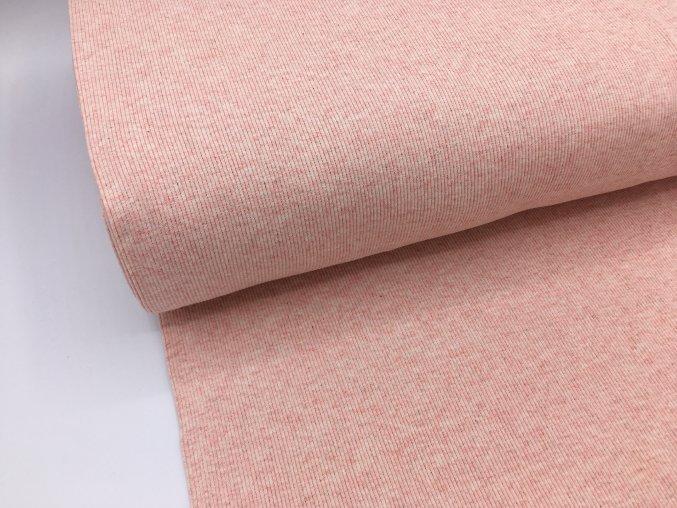 Náplet - žebrovaný - světle růžový