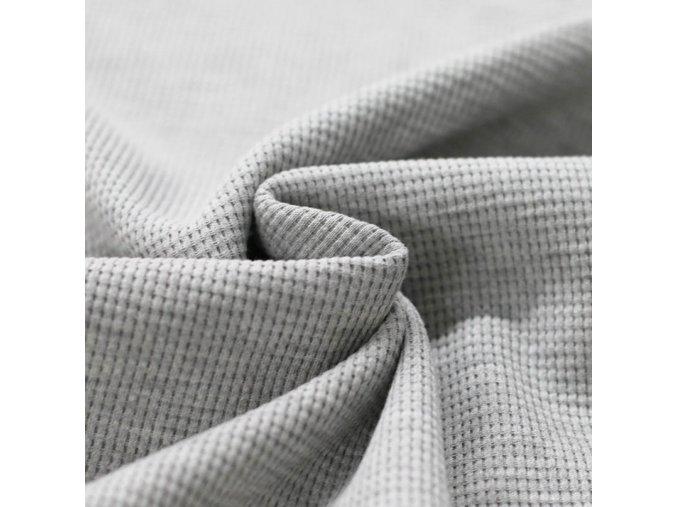 Úplet - vaflový - světle šedý melír