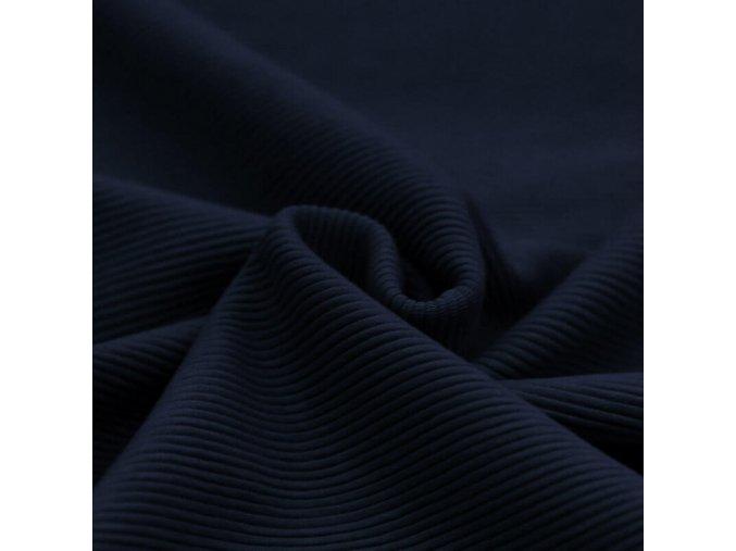 Ottoman Rib Jersey Fabric Navy 1100x1100