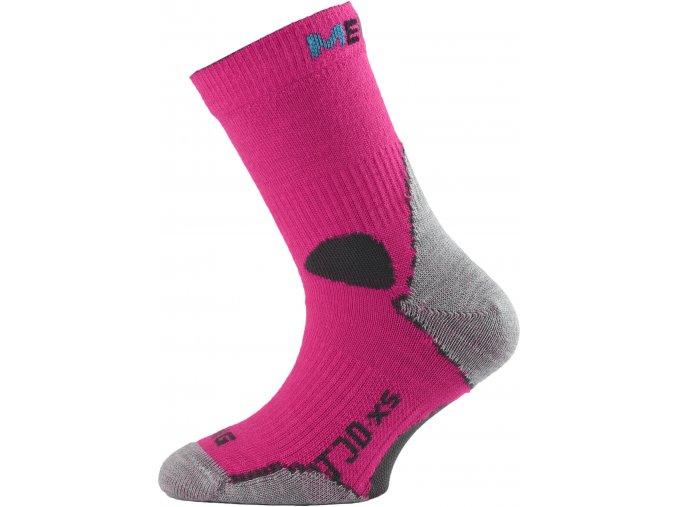 Dětské ponožky - trekingové - růžová