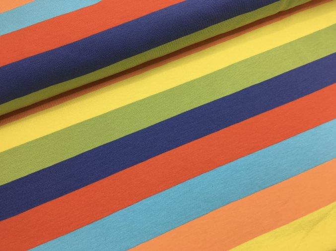 Úplet - proužky 3cm - s modrou