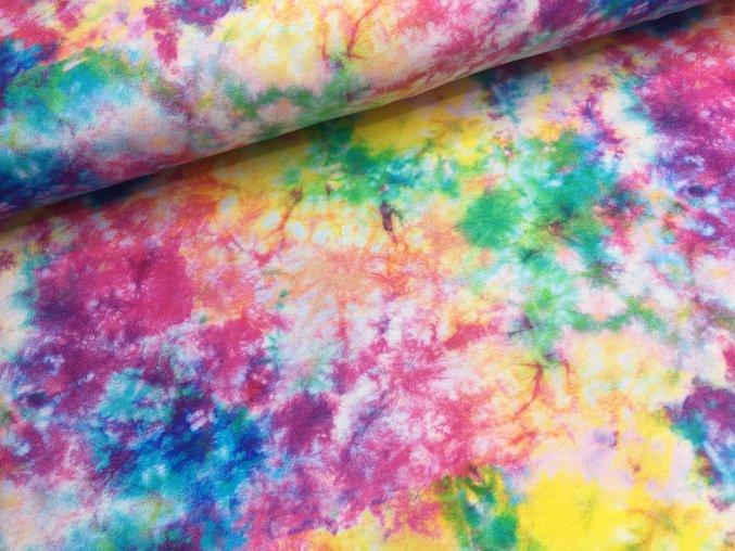 Úplet - exploze barev - digitální potisk - doprodej 94cm