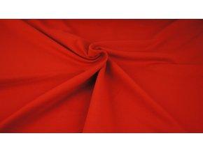 Teplákovina - jednobarevná červená - nepočesaná