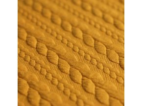Cable Knit Jacquard Ocher 800x800