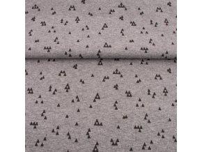 Náplet - trojúhelníčky - šedá