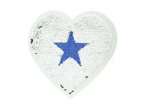 Obracecí nášivka - srdce velké