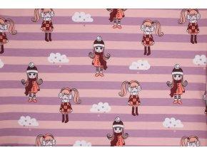 Úplet - holčičky - růžovo-meruňková