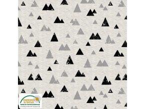 Teplákovina - hory šedý melír - počesaná