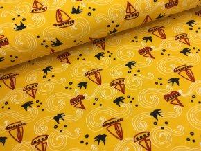 Úplet - lodičky - žlutá