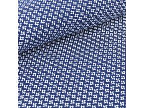 organic jersey pinwheels navy blue