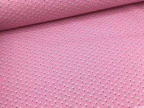Bavlna - kolekce víly - růžové kytičky