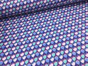 Bavlna - kolekce jednorožci - kytičky