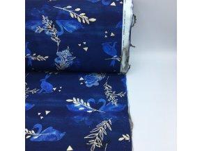 Teplákovina - labutě modré - 2.jakost