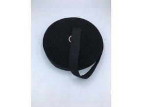 Pruženka plochá 30mm - černá
