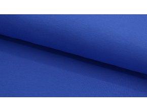 Bavlněný úplet (100% bavlna) - jednobarevný - modrá
